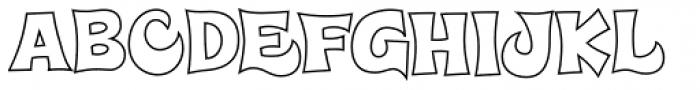 Super Delicious BTN Outline Font UPPERCASE