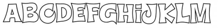 Super Delicious BTN Outline Font LOWERCASE