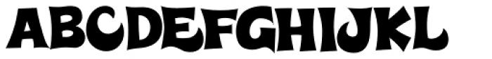 Super Delicious BTN Font UPPERCASE