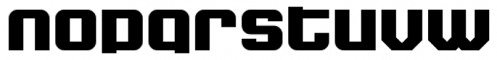 Super Duty Closed Round Heavy Font LOWERCASE