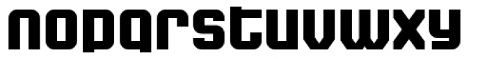 Super Duty Narrow Closed Round Heavy Font LOWERCASE