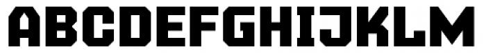 Super Duty Narrow Closed Sharp Heavy Font UPPERCASE
