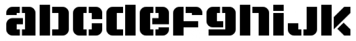 Super Duty Round Heavy Font LOWERCASE