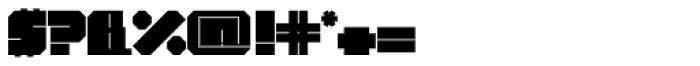 Superbold Line Font OTHER CHARS