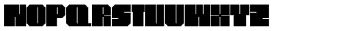 Superbold Line Font UPPERCASE