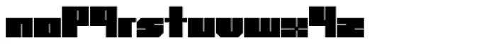 Superbold Line Font LOWERCASE
