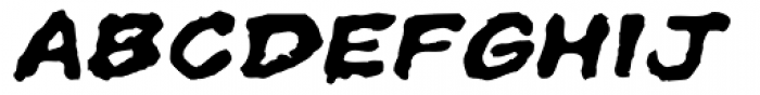 Superhero Rough Bold Oblique Font UPPERCASE