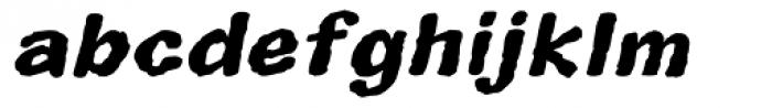 Superhero Rough Bold Oblique Font LOWERCASE