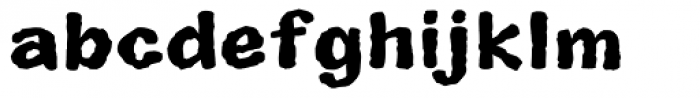 Superhero Rough Bold Font LOWERCASE