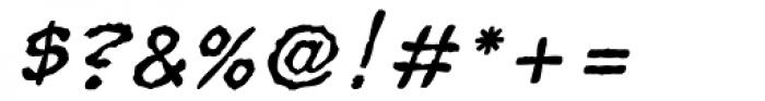 Superhero Rough Oblique Font OTHER CHARS