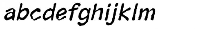 Superhero Rough Oblique Font LOWERCASE