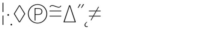 Superla Thin Caps Expert Font OTHER CHARS