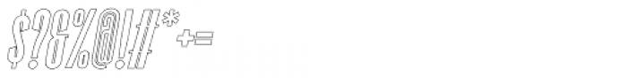 Superline Outline Italic Font OTHER CHARS