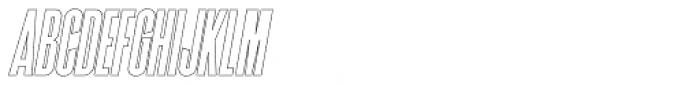 Superline Outline Italic Font LOWERCASE