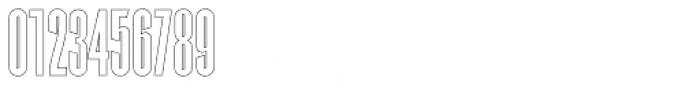 Superline Outline Font OTHER CHARS