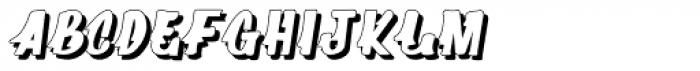 Supermarket 3D Font LOWERCASE