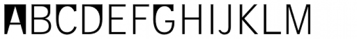 Supersquared Light Font UPPERCASE
