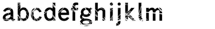Superwood Font LOWERCASE