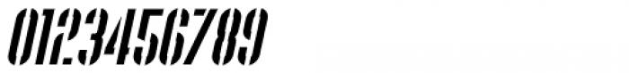 Supplier Stencil JNL Oblique Font OTHER CHARS