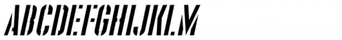 Supplier Stencil JNL Oblique Font UPPERCASE