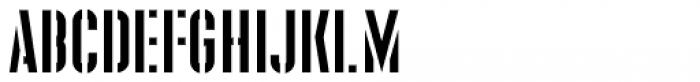 Supplier Stencil JNL Regular Font LOWERCASE