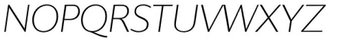 Supra Classic Thin Italic Font UPPERCASE