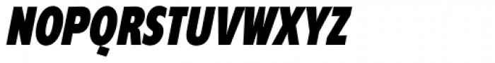 Supra Compressed Black Italic Font UPPERCASE