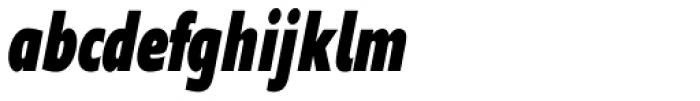 Supra Compressed Black Italic Font LOWERCASE