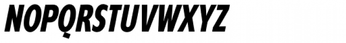 Supra Compressed Bold Italic Font UPPERCASE