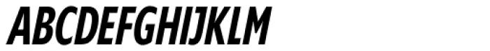 Supra Compressed DemiBold Italic Font UPPERCASE