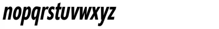 Supra Compressed DemiBold Italic Font LOWERCASE