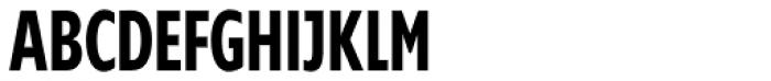 Supra Compressed DemiBold Font UPPERCASE