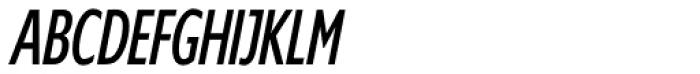 Supra Compressed Light Italic Font UPPERCASE