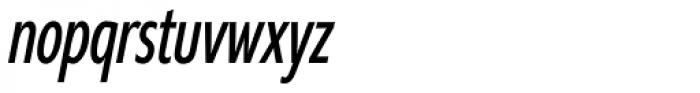 Supra Compressed Light Italic Font LOWERCASE