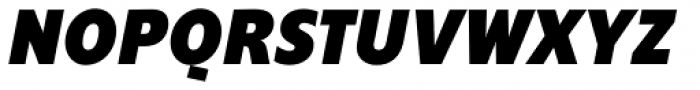 Supra Condensed Black Italic Font UPPERCASE
