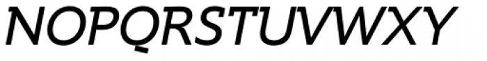 Supra DemiSerif Italic Font UPPERCASE
