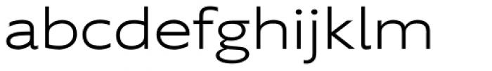 Supra Extended Light Font LOWERCASE