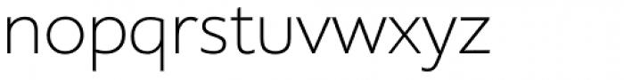 Supra ExtraLight Font LOWERCASE