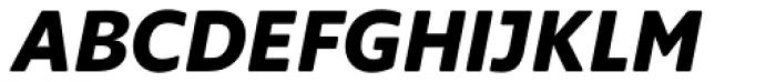 Supra Rounded Bold Italic Font UPPERCASE
