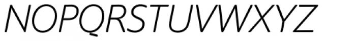 Supra Rounded Extra Light Italic Font UPPERCASE
