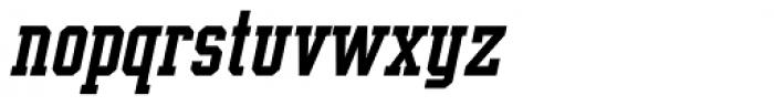 Supreme Bold Italic Font LOWERCASE