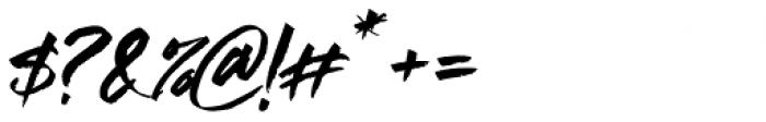 Supreme Regular Font OTHER CHARS