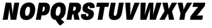 Supria Sans Cond Black Oblique Font UPPERCASE