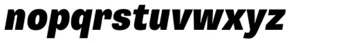 Supria Sans Cond Black Oblique Font LOWERCASE