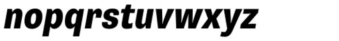 Supria Sans Cond Heavy Oblique Font LOWERCASE