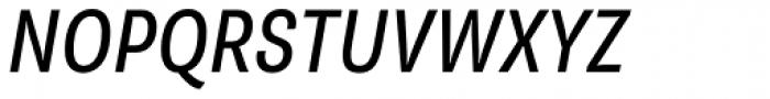 Supria Sans-Cond Regular Italic Font UPPERCASE