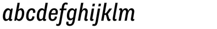 Supria Sans-Cond Regular Italic Font LOWERCASE