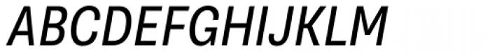 Supria Sans-Cond Regular Obliq Font UPPERCASE