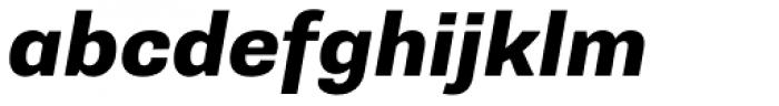 Supria Sans Heavy Oblique Font LOWERCASE