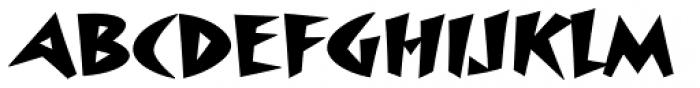 Surfboard Font UPPERCASE